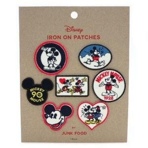 Junk Food Mickey Mouse Patch Set 7ct